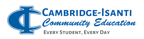 cambridge-isanti community ed logo