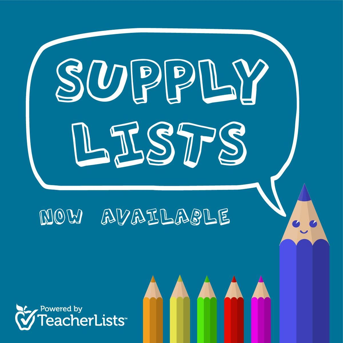School Supply Lists / Lists
