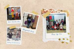 Pictures of students during special school events.