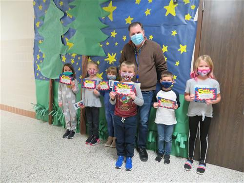 1st Grade character trait winners for the month of January.