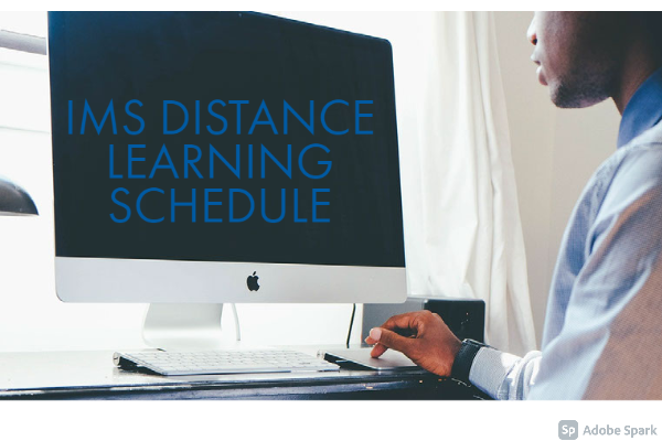 IMS Distance Learning displayed on computer screen