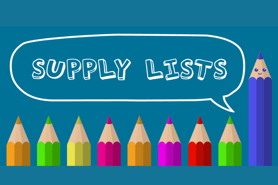 School Supply Lists are Available