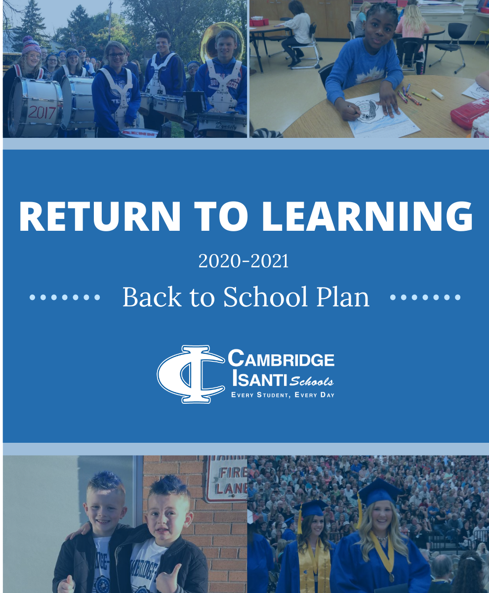 Pictures of students with Return to Learning headline